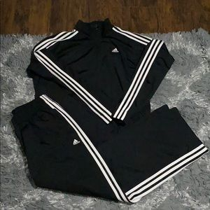 Adidas Full Track suit Size M EUC from 07 black